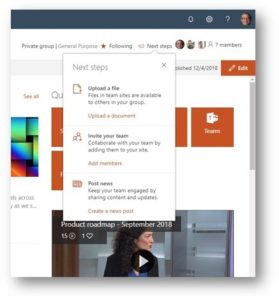 SharePoint Online January 2019 modern experience